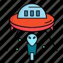 alien, mars, space, spaceship, ufo