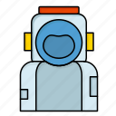 astronaut, helmet, space, spaceman, suit icon