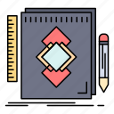 design, development, draw, identity, tool icon
