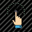 analytic, destination, digital, reach, touch icon