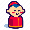 boy, chinese, chinese new year, chinese new year icon
