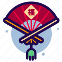 chinese, chinese new year, chinese new year icon, fan