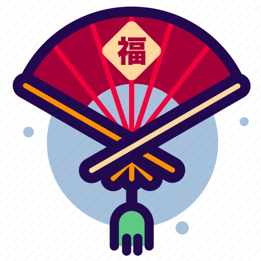 Chinese, chinese new year, chinese new year icon, fan icon - Download on Iconfinder