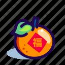 chinese, chinese new year, chinese new year icon, orange icon