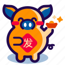 chinese, chinese new year, chinese new year 2019, chinese new year icon, pig