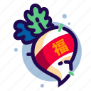chinese, chinese new year, chinese new year icon, radish