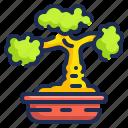 bonsai, botanical, chinese, farming, nature, plant, pot icon