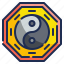 balance, chinese, cultures, religion, signs, yang, yin icon