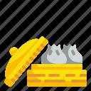 chinese, dessert, dumpling, food, snacks, steam, steamed icon