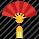 chinese, fan, folding, hand, new, sensu, year