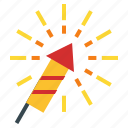 celebration, chinese, firecracker, firework, new, rocket, year icon
