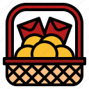 basket, chinese, new, offering, orange, sacrificial, year icon
