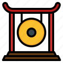 bell, chinese, festival, gong, instrument, new, year