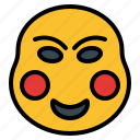 chinese, dance, festival, mask, new, smile, year icon