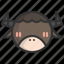 animal, chinese, mammal, ox, wild, zodiac, zoo
