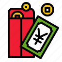 china, envelope, gift, money, red envelope icon