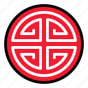 china, element, emblem, sign icon