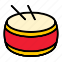 china, drum, musical instrument, percussion icon