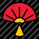 china, fan, folding fan, hand fan, handheld icon