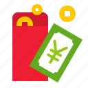 china, chinese, envelope, gift, money, red envelope icon