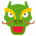 china, chinese, dragon, dragon dance, face, head icon