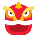china, chinese, face, head, tiger, tiger dance icon
