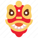 chinese, cute, lion, newyear icon