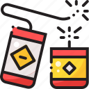 chinese, firecracker, firecrackers, fireworks icon