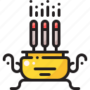 candle, chinese, joss, stick
