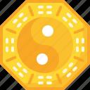 amulet, chinese, yang, yin icon