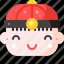 boy, chinese icon