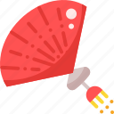 chinese, fan icon