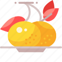 chinese, fruit, orange icon