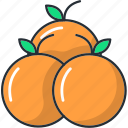china, chinese, mandarin, new, orange, year icon