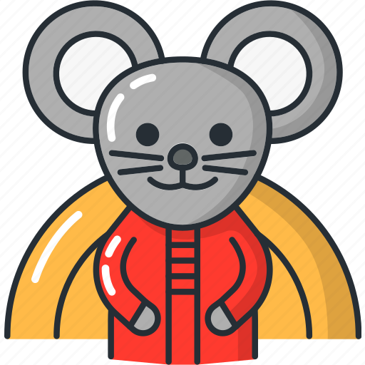china, chinese, mouse, new, rat, year icon