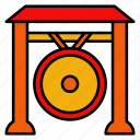 gong, instrument, chinese, new, year