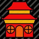 pagoda, chinese, new, year, religius