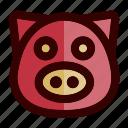 chinese, chinese new year, farm, lunar, pig, piggy, pork icon