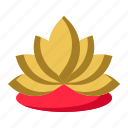 blossom, flower, lotus, yoga icon