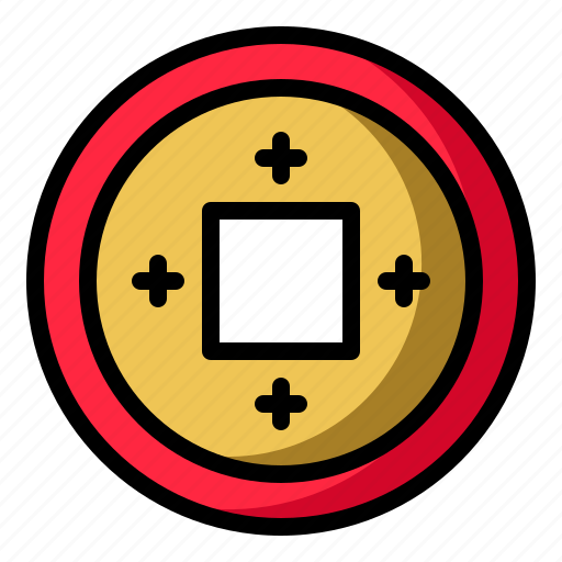 chinese, coin, currency, money icon