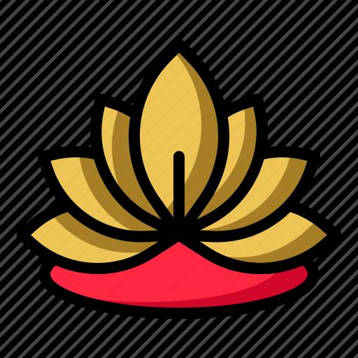 blossom, flower, lotus, yoga icon