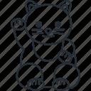 china, chinese, gato, new, year icon