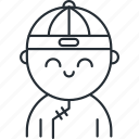 boy, china, chinese, new, traditional, year icon
