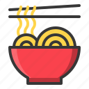 china, chinese, food, noodle, new year icon