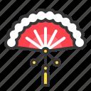 chinese new year, decoration, fan, handheld, japan fan, oreintal, red