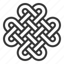 chinese, chinese knotting, knot, lunar, new, year icon