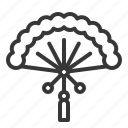 chinese, fan, lunar, new, year icon