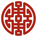happiness, joy, chinese symbol icon