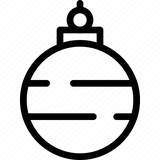 ball, christmas, decor, decoration, glass, red, shiny icon