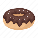 biscuit, chocolate, dessert, donut, food, sweetness icon